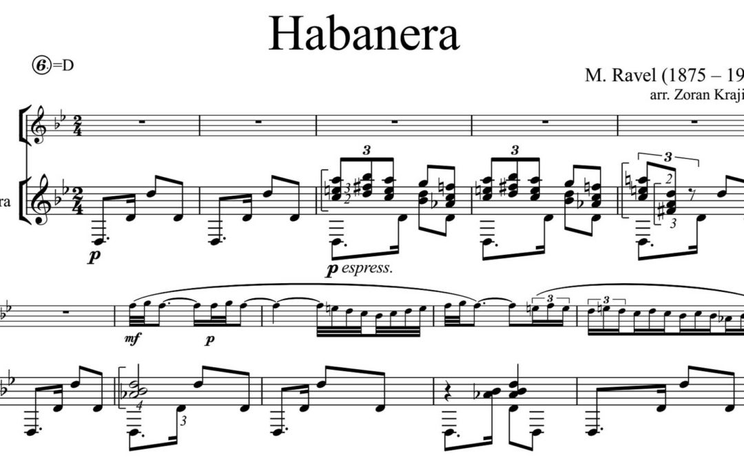 M.Ravel, Habanera, arr. for guitar and flute