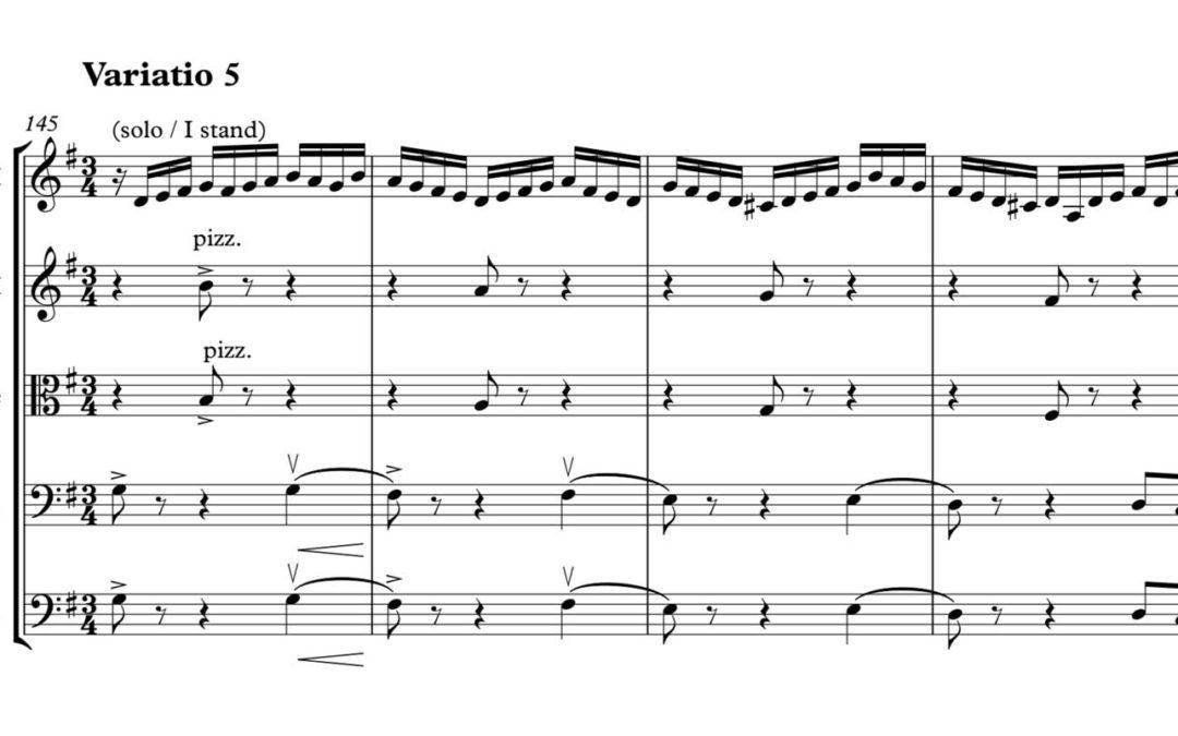 Bach, Goldberg variations, transcription for chamber string orchestra