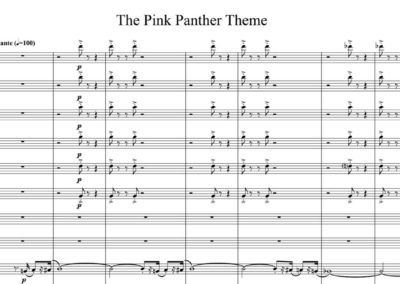 Henry Mancini, The Pink Panther Theme, arr. for symphony orch.